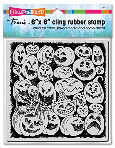 Stampendous Cling Stamps-Pumpkin Spooks
