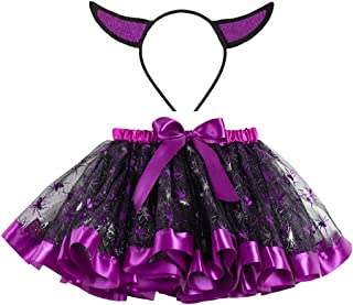 Fun1980s Halloween Party Dance Headband Tutu Skirts Dress Multi-Layer Party Dance Ballet Costume Makeup Party Supplies