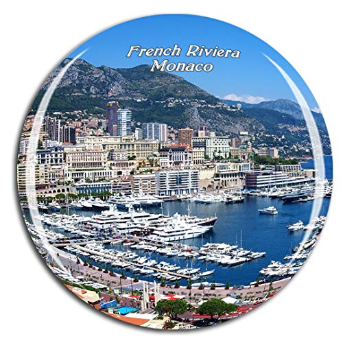 Weekino Riviera Francesa de Mónaco Imán de Nevera 3D de Cristal de la Ciudad de Viaje Recuerdo Colección de Regalo Fuerte Etiqueta Engomada refrigerador