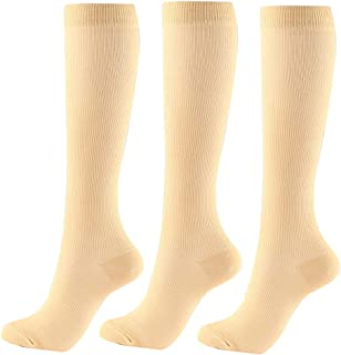 Compression Socks Women Base Layers & Compression Socks for Outdoor Sports 3Pairs