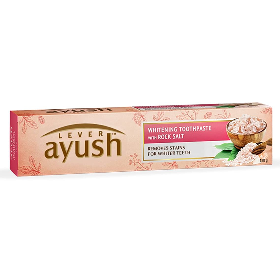そんなにウガンダ想定するAyush Whitening Toothpaste - 150 g (Rock Salt)