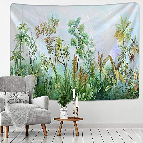 AdoDecor Tapiz Colgante de Pared Hojas Tropicales patrón de Flores Playa Tapiz de Pared Animal telón de Fondo Tela de Pared tapices de Alfombra 150x110cm