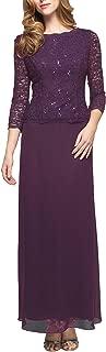 Alex Evening Women's Long Mock Dress with Full Skirt (Petite and Regular Sizes)