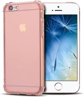 Anfire Funda iPhone 6 / 6S Plus, Silicona Case de Suave y Transparente Carcasa, Flexible Gel TPU, Ultra Ligero [Esquinas Reforzadas] Bumper Caja Claro Blando Caso Cubierta Trasero - Oro Rosa