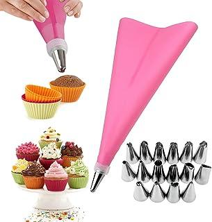 Cuisine & Maison Sacs de courses Mengonee Glaçage Piping crème Sac de décoration de gâteau pâtisserie réutilisable EVA Pincez Pochette de Cuisson Accessoires