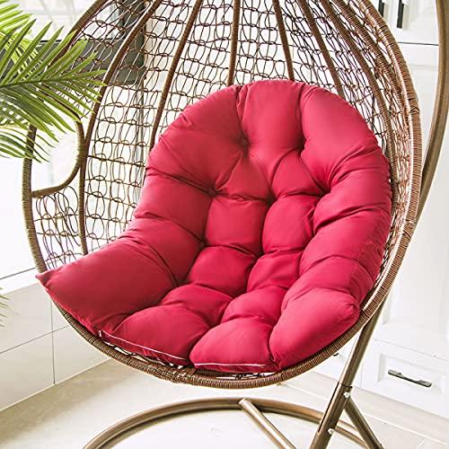 LYLAYW Cojín de Asiento de Cesta para Colgar, cojín de sofá Individual Desmontable y Lavable de 31,5x47,2 Pulgadas para sillas Colgantes para el hogar, sillas de cuna-03
