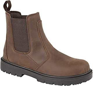 Grafters Safety Dealer Boot Safety Toe Cap & Steel Midsole Ankle Boots