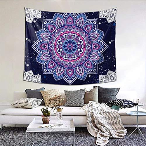 ZVEZVI Tapiz de Toalla de Mandala étnico con diseño Floral Indio de Paisley, decoración del hogar, Tapiz de Paisaje, Sala de Estar, Dormitorio, decoración, Tapiz, Cortina (60 '' L × 51 '' W)