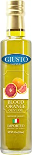 Giusto Sapore Blood Orange Infused Italian Olive Oil - Extra Virgin 8.5oz - Premium Superior Quality Gluten Free Gourmet Brand - Imported from Italy and Family Owned