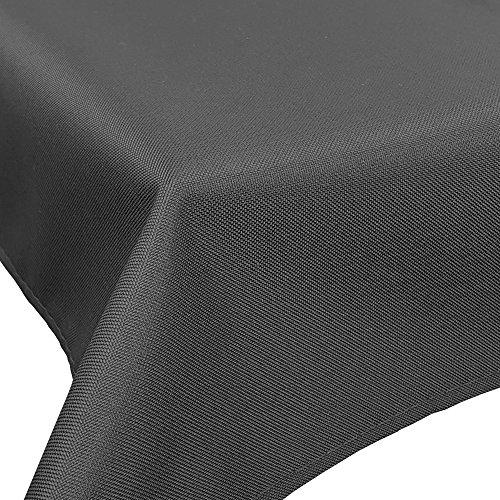 DILUMA Outdoor Tischdecke Lounge mit Lotuseffekt 130 x 156 cm Anthrazit - Tischtuch wasserabweisend Tischwäsche Größen Gartentischdecke pflegeleicht und wetterfest