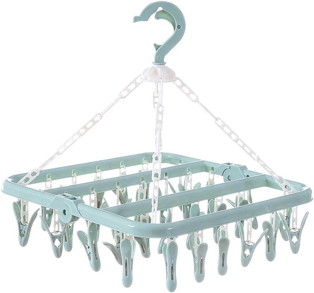 Sales ZPH1003A Laundry Hanger Drying Rack with Cli Plastic Outlet ☆ Free Shipping 32