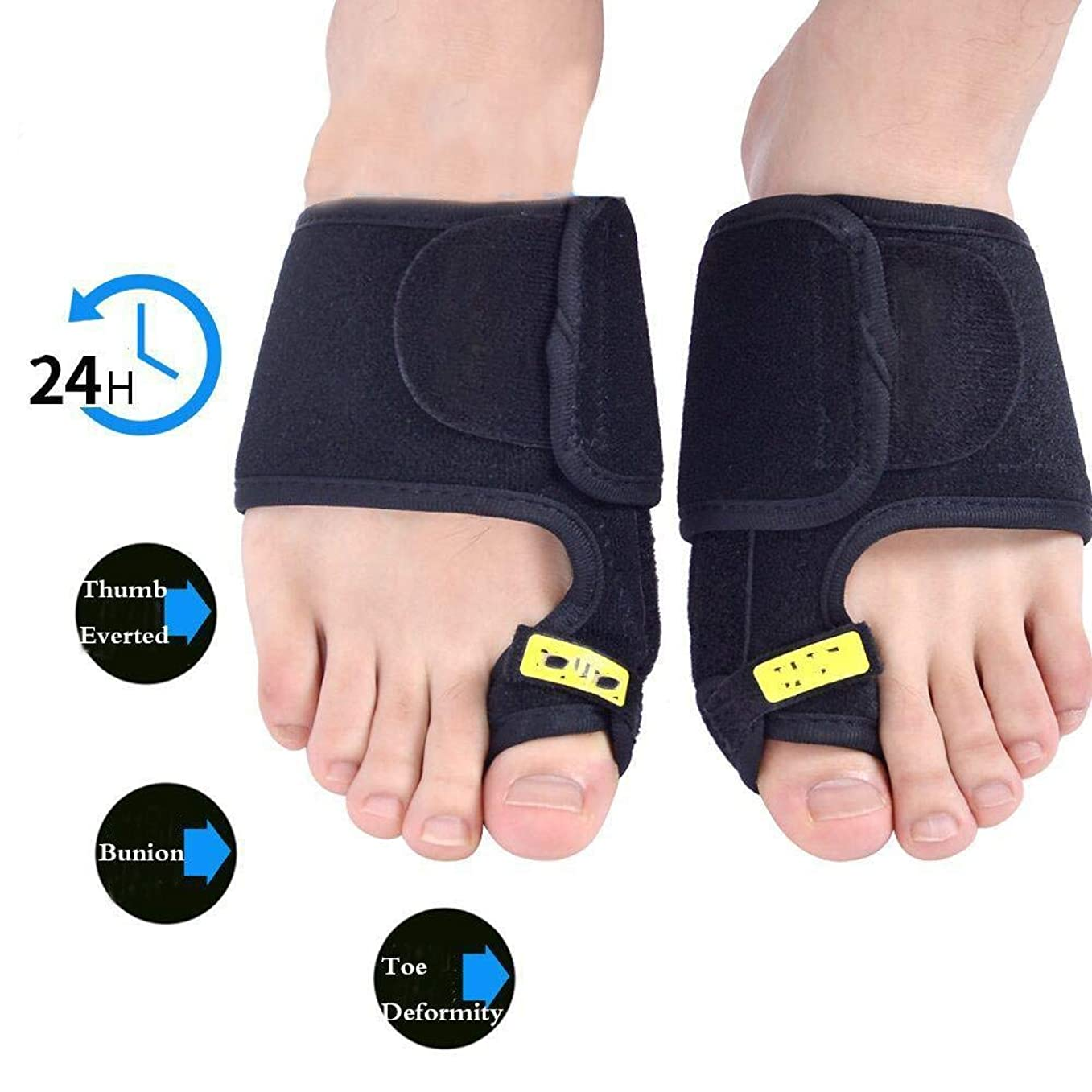 しみマイクロプロセッサ札入れ外反母ortho装具、足の親指矯正矯正セパレーター