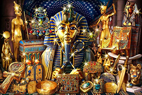 KUANGPP Puzzle 1000 Piezas Rompecabezas para Adultos Decoraciones únicas para el hogar y Regalos de faraones egipcios