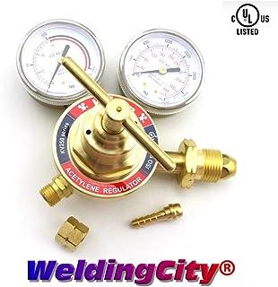 WeldingCity UL-Listed Medium Duty Single Stage ACETYLENE Regulator SR250 Victor Style SR260A-510 (0781-0087)