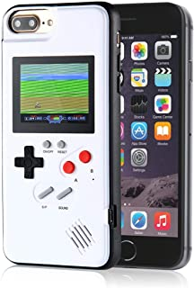 LayOPO Gameboy iPhone Case, iPhone Case Game Console with 36 Small Games,Color Screen,Retro 3D Gameboy Design for iPhone Xs/X,iPhone8/8 Plus,iPhone 7/7 Plus,iPhone 6/6Plus (iPhone 6P/7P/8P, White)
