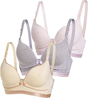 Ancdream Cotton Front Clip Women Wireless Nursing Bra and Maternity Sleep Bra
