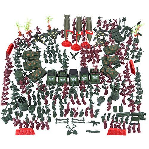 Polai 301Pcs Soldados de Juguete Plástico Figuras de Soldados Militares