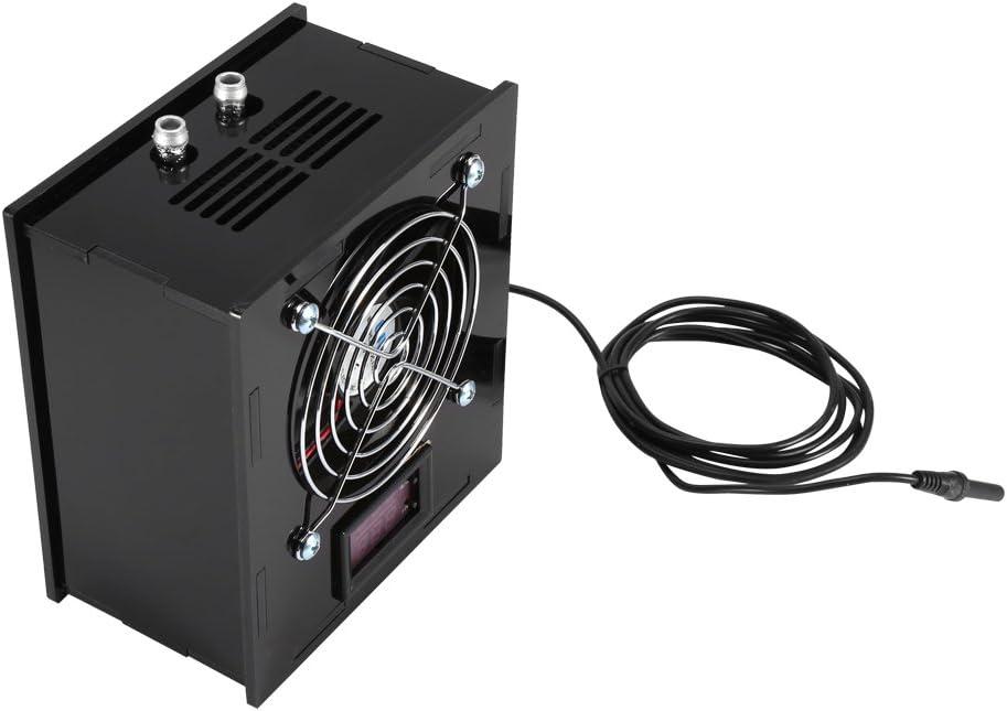 Enfriador de termostato de acuario, con enfriador de tanque de peces que ahorra energía, 70W DC 12V con controlador de control de temperatura para sal de acuario, ambiente de pH bajo