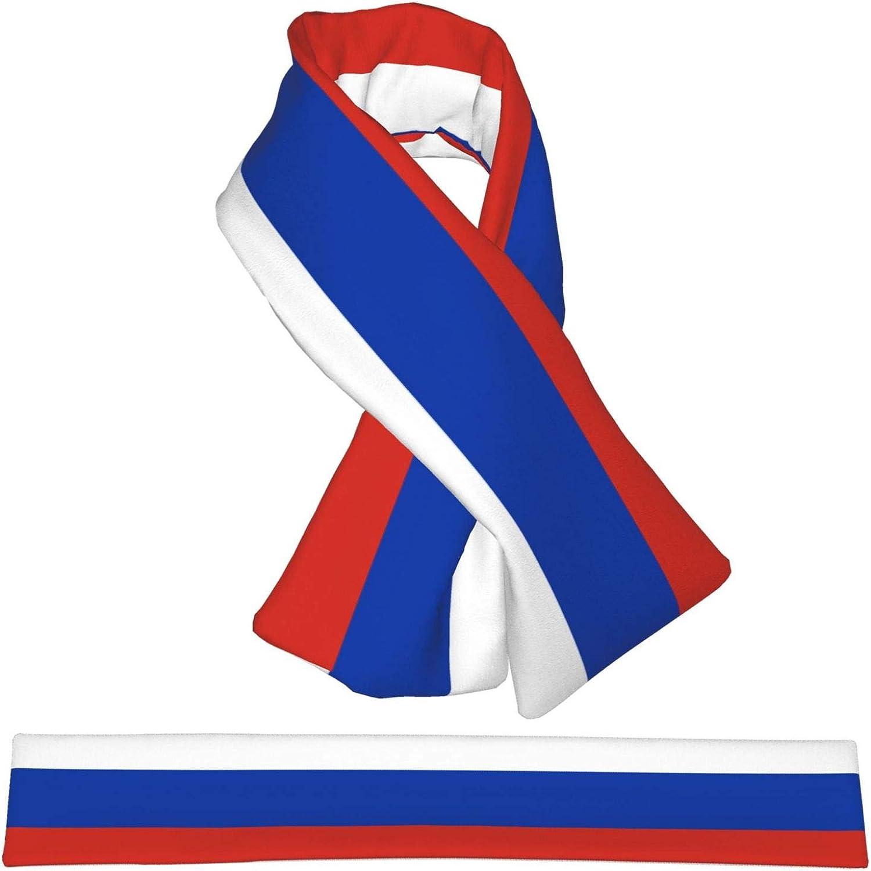 Winter Scarfs Russia Flag Scarves Wraps Neck Warmer Flannel Winter Cross Tie Scarves