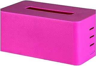 Adjustable Plastic Tissue Box Holder Home Organizer Office Decoration Accessories Napkin Paper Case Decor,Purple