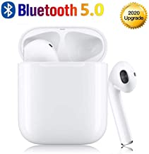 Bluetooth 5.0 Wireless Earbuds, Smart Noise Reduction 3D Stereo 24 Hours Play Time Wireless Sports Headphones, IPX5 Waterproof ,for Apple Airpods Android iPhone Popup Window Automatic Pairing
