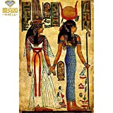 zhuziji Imprimir póster Personalizado Decoración egipcia de la Pintura al óleo de la Mujer del Arte de la Pared En Lienzo Regalo REPRODUCCIÓN DE Arte Decoración Moderna 50x70cm(Sin Marco)