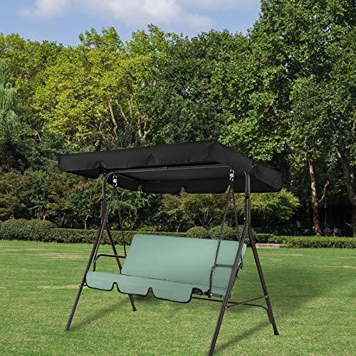 Porcyco Cubierta de repuesto para silla de columpio de jardín, impermeable, a prueba de polvo, colorido al aire libre, para patio, jardín, color gris