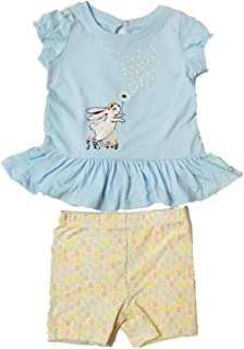 322ea603a3792 Infant & Toddler Girls Baby Tutu Bunny Blue Shirt Flower Short Outfit