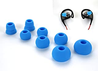 Zotech 4 Pairs Replacement Silicone Ear Tips Earbuds Buds Set for Powerbeats 1, 2 & 3 by dre Headphones (Sky Blue)