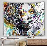 Luofanfei Wandteppich Graffiti Psychedelic Abstrakte Gedruckt Hausdekor Tuch Wandtuch Wandbehang 6# 230X150cm