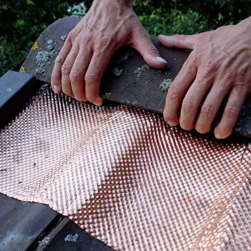 X4-Tools - Cinta para protección de tejado (5 m, Cobre, con Textura)