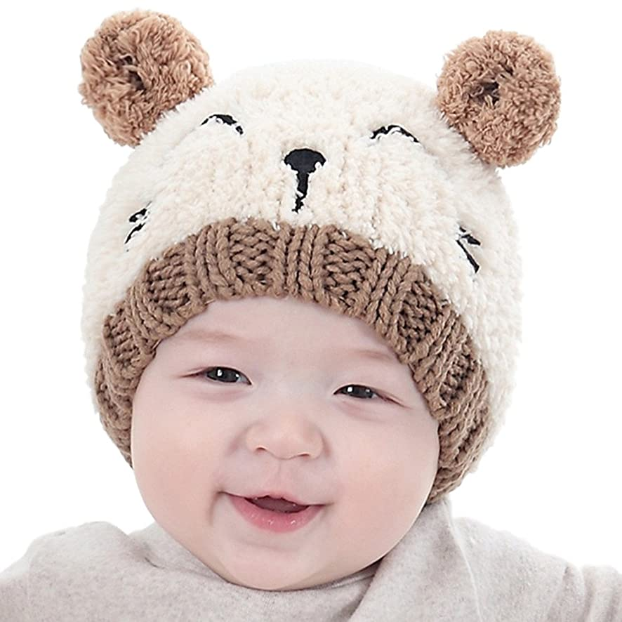 ?? Mealeaf ?? Toddler Hat Baby Boys Girls Infant Newborn Sun Protection Cotton Knit Winter Warm Kids Baseball Cap Beanie