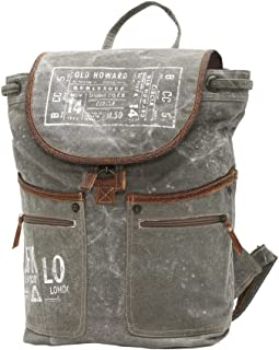 Myra Bag Old Howard Upcycled Canvas Backpack S-0829