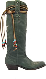 Golden Goose Luxury Fashion Womens G35WS930C3 Green Ankle Boots | Fall Winter 19