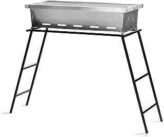 ZUOFENG Vikbar grill träkolsgrill, bärbar kolgrill bordsskiva utomhus inomhus rostfritt stål rökare BBQ för picknick trädg...