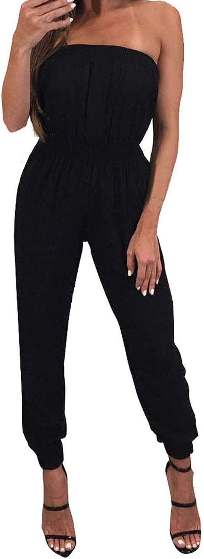SERYU Womens Off Shoulder San Francisco Mall High Waisted Wide R Oakland Mall Jumpsuits Long Leg