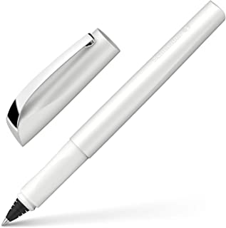 Schneider Ceod Shiny Rollerball Pen - Right and Left Handed - Medium Line - Pearl White - Includes Royal Blue Ink Cartridge