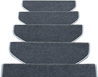 JIAJUAN Non-Slip Stair Carpet Treads Indoor Self Adhesive Stairs Floor Rugs Mats, 5 Styles, 4 Sizes, Customize (Color : D...