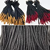 100% Human Hair Dreadlocks Extensions Handmade Medium 1/4' Width Pencil Sized Various Lengths With or Without Blonde or Red Tips - SOLD 25 LOCS IN A BUNDLE