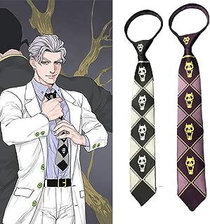 Anime JoJo's Bizarre Adventure Killer Queen Kira Yoshikage Cosplay Tie