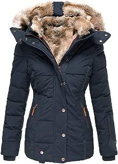 Howely Women's Hooded Jacket Warm Casual Winter Sherpa Lined Outwear Jacket