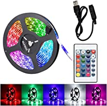 2M LED Strip Light TV Bias Backlight Kit for HDTV Desktop PC Fish Tank Decorations, Waterproof RGB Monitor Lighting with Remote Control, USB Powered
