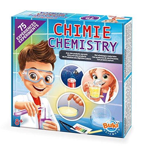 Buki France- Chimie Chemistry Lab Química 75 experimentos, Multicolor (8363EU)