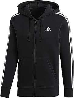 Men's Essentials 3-Stripe Full Zip Fleece Hoodie