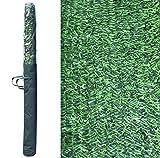 Seto Artificial Decorativo tupido ignífugo de 3 Metros de Largo x 1.5 Metro de Altura. Seto Artificial Decorativo Verde, de Alta ocultación. (1- Rollo seto 3x1.5)
