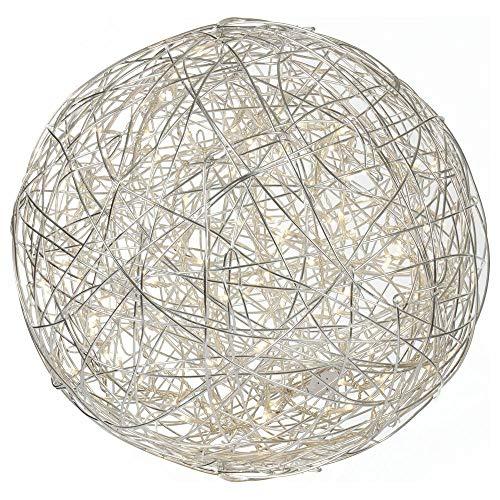 famlights Drahtkugel Innen- und Außenbereich | inkl. LED-Lampen | Außenleuchte Kugellampe LED-Kugel Drahtleuchte Außenbeleuchtung Gartenkugel Gartenleuchte Wegeleuchte Wegelicht | 300 mm
