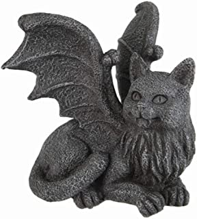 Winged Cat Gargoyle Computer Topper Shelf Sitter Statue by Pacific Trading