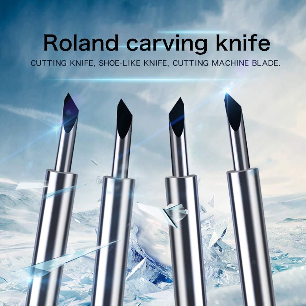 Roland - Cuchillos para grabar (40 unidades, 30/45/60 grados, hoja ...