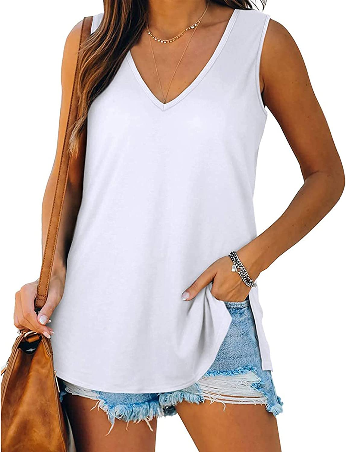 4Th of July Shirts Women Tank Top,Womens Tank Tops Summer Loose Fit Color Block Casual Sleeveless Tshirts