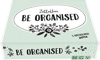 Be organised - Die Zettelbox: 5 liebevoll gestaltete Notizblöcke mit je 60 Blatt